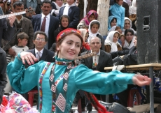 Members of the Badakhshan Ensemble perform traditional Pamiri music and dance for the Afghan audience in the spirit of mutual understanding and learning.