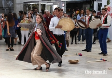A Central Asian dance workshop was held at Feira Internacional de Lisboa 1.