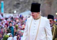 Mawlana Hazar Imam grants a Darbar at Garamchashma, Lower Chitral