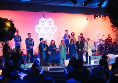 Artists from around the world perform a special musical composition for Mawlana Hazar Imam's 80th birthday celebration. Photo: Farhez Rayani