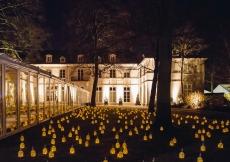 Hundreds of lanterns decorate the grounds of Mawlana Hazar Imam's residence on the occasion of his 80th birthday celebration. Photo: Farhez Rayani
