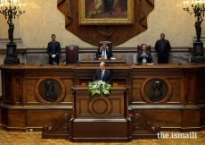 Mawlana Hazar Imam addresses the Portuguese Parliament on the historic occasion of his Diamond Jubilee.