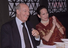 Prince Amyn and Princess Zahra share a moment during the celebration. Photo: Zahur Ramji