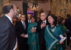 Prince Hussain meets with Jamati and institutional leaders at the celebration of Mawlana Hazar Imam's 80th birthday. Photo: Zahur Ramji