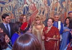 Princess Zahra and her daughter Sara meet with the artists after their performance. Photo: Zahur Ramji