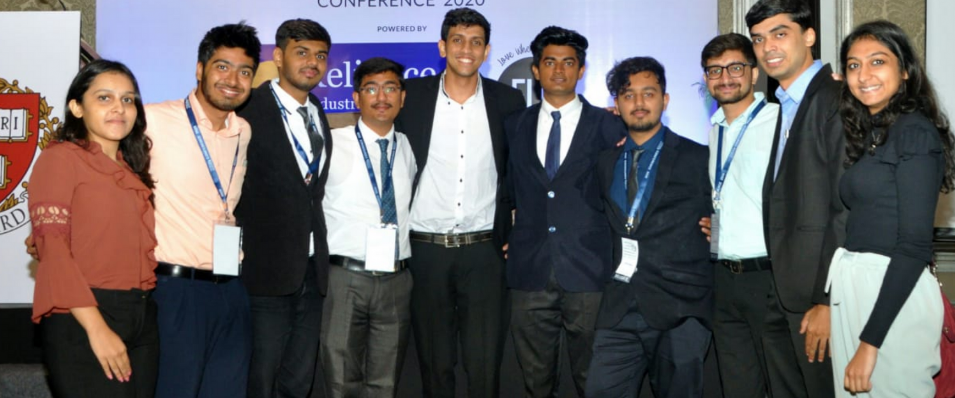 The RFS Contingent at the HUII Conference: from left to right: Arisha Chamadia, Aizaz Dosani, Ali Charaniya, Rahim Panjwani, Saif Lakhani, Yasin Lalani, Tanzim Thobani, Sahil Kadiwar, Nizar Mesani and Ashna Dawoodani