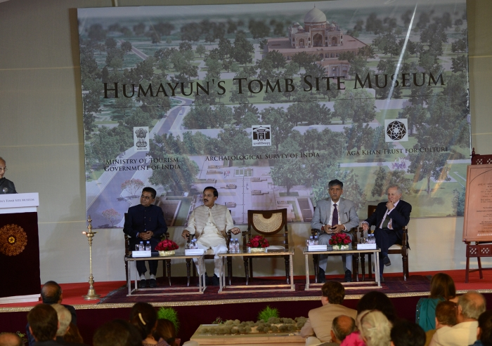 """The new museum will be """"at the juncture of three historically connected sites, Humayun's Tomb and its Gardens, Hazrat Nizamuddin Basti, and the Sundar Nursery,"""" said Mawlana Hazar Imam."""