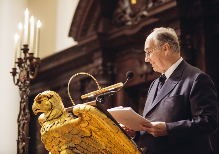 "Mawlana Hazar Imam spoke as part of the Samuel L. and Elizabeth Jodidi Lecture Series, which provides for ""the delivery of lectures by eminent and well-qualified persons for the promotion of tolerance, understanding and good will among nations, and the peace of the world."""