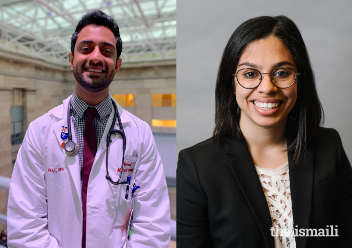 Azan Virji from Kenya and Ashiana Jivraj from Canada aim to help other international students navigate their journey in higher education in the USA.