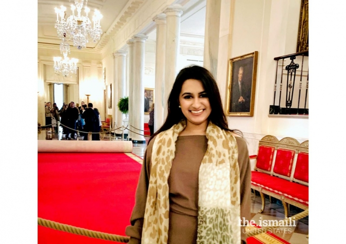 Nisha Thanawala visiting the White House during her time working on Capitol Hill.