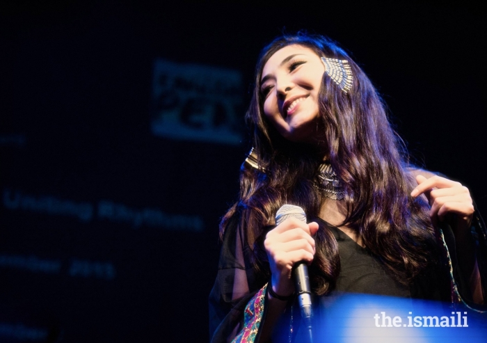 Elaha Soroor performs at the Ismaili Centre, London in October 2017.