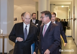 Mawlana Hazar Imam in conversation with Professor Dr Joachim Nagel, Member of the Executive Board of KfW.