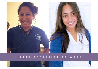 Nurses Shazia Mitha (left)  and Jena Pradhan (right) from New York.
