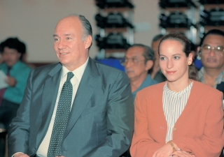 His Highness the Aga Khan at the 1995 Aga Khan Award for Architecture's ceremony.