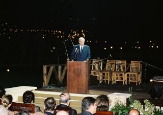 Mawlana Hazar Imam speaking at the opening ceremony of Al-Azhar Park.