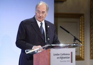 Mawlana Hazar Imam speaking at the 2014 London Conference on Afghanistan.