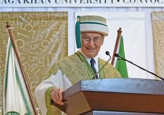 Mawlana Hazar Imam speaking at AKU's convocation ceremony in Dar es Salaam, Tanzania.