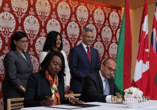 Minister Hunter from the Government of Ontario and Amyn Merchant from the Aga Khan Academies renewed the partnership on mutually beneficial education initiatives.