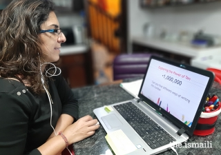 Yaseena Khalfan, a teacher at the Aga Khan Academy in Nairobi, has had to be creative and learn new skills to transition to remote learning.