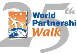 Twenty-fifth World Partnership Walk logo.