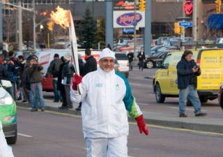 On Thursday, 17 December 2009, Ismaili Council for Canada President Mohamed Manji  proudly carried the Olympic Torch along York Mills Road in the Don Mills neighbourhood of Toronto. It represented to him a spirit of hope, peace and pluralism, as Olympic a