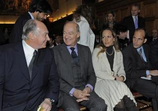 Prince Amyn, Princess Zahra and Prince Hussain joined Mawlana Hazar Imam at the Le Nouvel Economiste award ceremony, where Hazar Imam received the Prix de l'Entrepreneur philanthropique de l'année 2009 (2009 Philanthropic Entrepreneur o