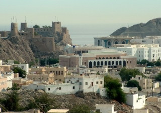 Muscat, the capital of the Sultanate of Oman, is situated in a mountainous area overlooking the Gulf of Oman.