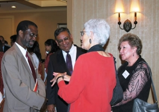 Professor Nyang, and Iqbal Lakhani, President of the Ismaili Council for Florida with guests at the Milad-un-Nabi in Tampa