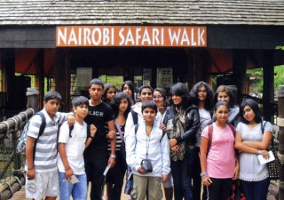 Students from Madagascar were excited to experience some of Kenya's wildlife during a visit to the Nairobi Safari Walk.