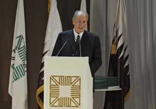 Mawlana Hazar Imam speaking at the Award Ceremony of the 11th cycle of the Aga Khan Award for Architecture held in Doha, Qatar on 24 November 2010.