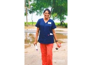 Nurse Fauzia Kermally from San Jose, California.