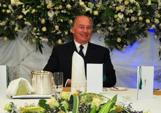 Mawlana Hazar Imam at the institutional leadership dinner in Kampala, Uganda on 12 July 2011.