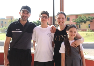 Nuha, Wassim, and their two childrenare excited about the various opportunities for growth at the Aga Khan Academy, Maputo.