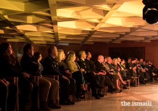 Members of the audience listen intently as the Aga Khan Master Musicians perform at the Ismaili Centre Lisbon in December 2019.