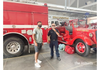 Alim Charania delivers food to the Healdsburg Fire Department.