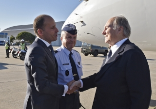 Mawlana Hazar Imam is received by Pedro Mota Soares, Portugal's Minister of Solidarity, Labour and Social Security. TheIsmaili / Gary Otte