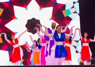 Kaleidoscope dance performed at the Closing Ceremony of the 2016 Jubilee Games. Asif Bhalesha