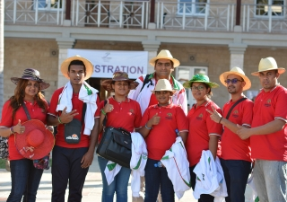 Ismailis from the Malagasy Republic arrive in Mombasa for the Africa-wide Unity Games, which will run from 13 - 16 April 2017. Ismaili Council for Kenya
