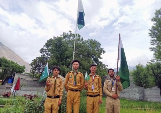 Flag Hoisting ceremony in Immit, Gilgit-Baltistan
