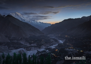 """""""A kiss of mist"""": View of Hunza"""