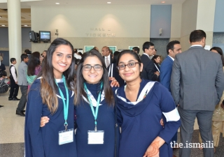 Anam Sherali (Center) with other volunteers in Houston