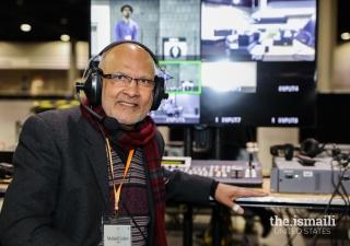 Mahedi Lalani, member of the Video Production Team during the Diamond Jubilee visit to Atlanta