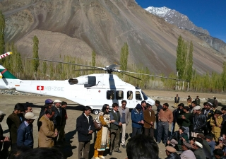Institutional leaders meet with affected communities in Phadar, Ghizer following a devastating 7.5 magnitude earthquake. FOCUS