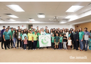 Jamati members participate in and celebrate Go Green launch in Miami HQ.