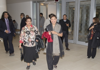 Ismailis from across Toronto attended Jamatkhana for the first time at the new Ismaili Centre on 19 September 2014. Moez Visram