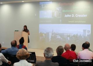 "Communications Coordinator, Farida Nurani, introduces John D. Cressler, author of the ""Anthems of al-Andalus"" series."