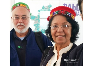 Dr. Noormahal Kabani and her husband in Tajikistan, five years after her recovery.