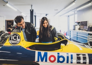 Nabila Tejpar, pictured with her Father Aziz, has continued her family's tradition of motor racing.