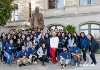 AWB participants at the new MLK statue at the Georgia State Capitol.
