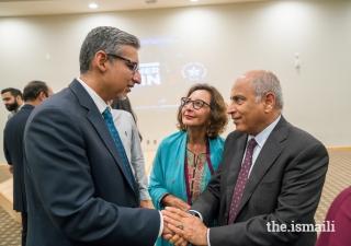 Judge Dhanidina with Salim Bhatia, Director, Aga Khan Academies, and Mrs. Bhatia.